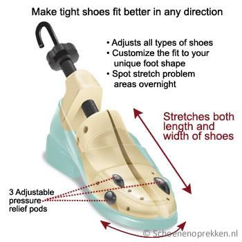 Leren schoenen oprekken